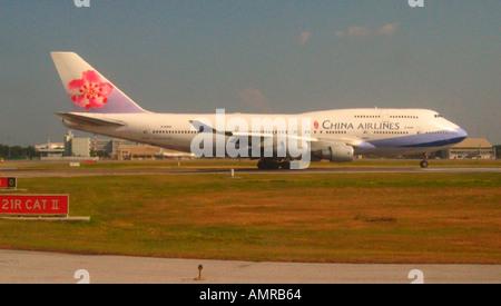 China Airlines Boeing 747-400 de l'Aéroport International de Don Muang Bangkok Thaïlande