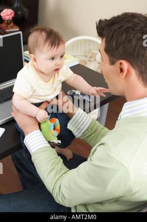 Père avec bébé Banque D'Images