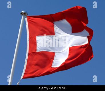 Drapeau suisse, drapeau suisse, drapeau de la Suisse Banque D'Images