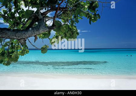 La belle plage de Playa Pesquero tropical près de la province de Holguin Cuba Guadarlavaca Banque D'Images