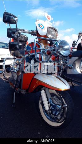 Lambretta scooter Grand Prix style mod Banque D'Images