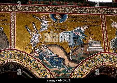 Mosaïques byzantines de la cathédrale Monreale Sicile Église
