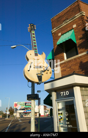 Sun Studios (studio d'enregistrement du 1er enregistrement d'Elvis Presley), Memphis, Tennessee, États-Unis Banque D'Images