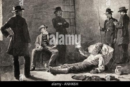 John Brown après sa capture. John Brown, 1800 - 1859. Abolitionniste américain blanc.