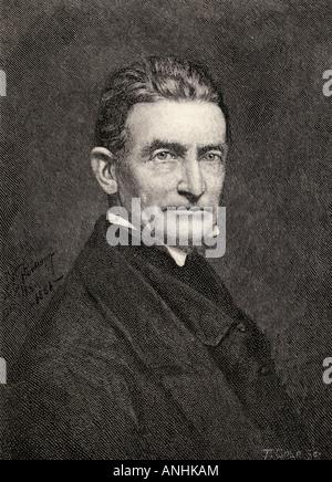 John Brown, 1800 - 1859. Abolitionniste américain blanc. Du livre The Century Illustrated Monthly Magazine, mai à octobre 1883.
