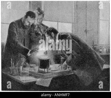 Marie et Pierre Curie Banque D'Images