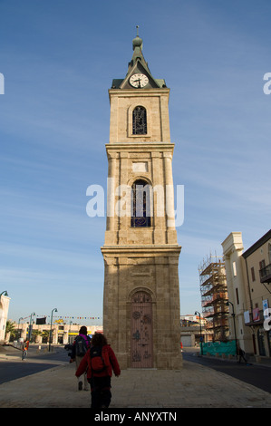 La tour de l'horloge de Jaffa Banque D'Images
