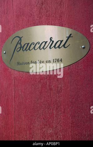 Europe, France, Paris, Place de la Madeleine: Cristal de Baccarat Store Se connecter Banque D'Images