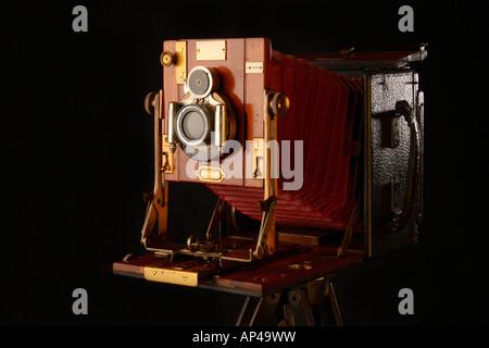 La caméra grand format, Sandersons Modèle Junior. Banque D'Images