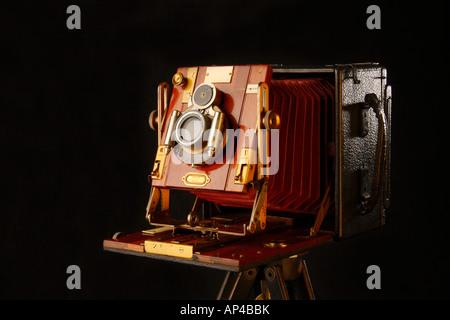 Appareil photo grand format, Sandersons Modèle Junior. Banque D'Images