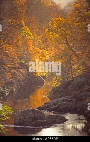 L'automne dans le col de Killiecrankie près de Pitlochry Banque D'Images