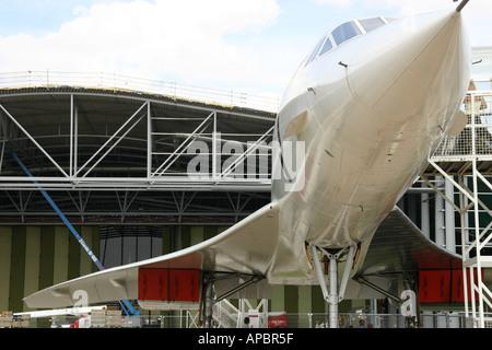 Concorde prototype à l'Imperial War Museum Duxford Banque D'Images