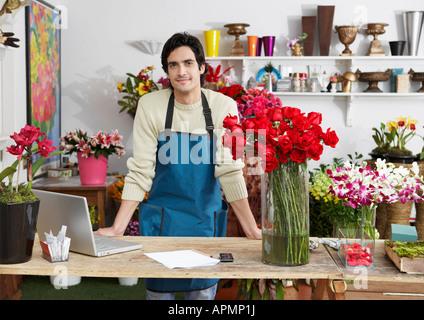 Male florist (portrait)