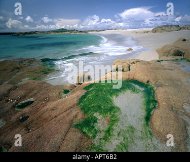 IE - Cie. Galway: Plage sur Omey Island Banque D'Images