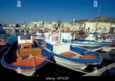 Port de Porticello, Palerme, Sicile Italie Banque D'Images