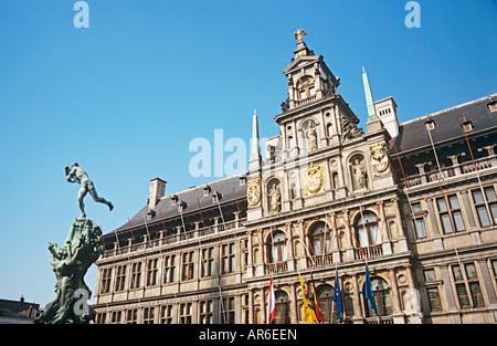 L'hôtel de ville d'Anvers Banque D'Images