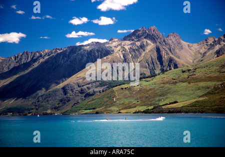 Le Lac Wakatipu près de Glenorchy ile sud Nouvelle Zelande Banque D'Images