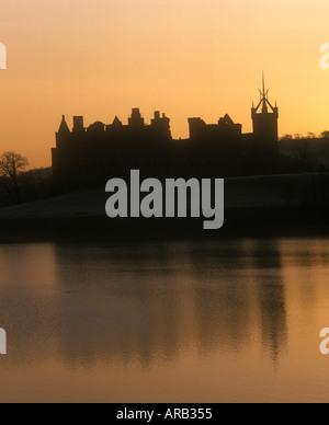 Le Palais de Linlithgow Loch et à l'aube de l'Ouest Ecosse Linlithgow Lothian Banque D'Images