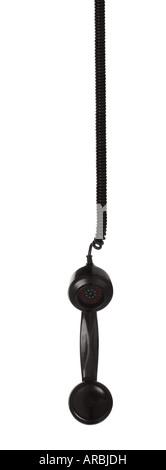 Combiné récepteur à partir d'un vieux téléphone rétro pendant vers le bas Banque D'Images