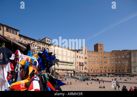 Piazza del Campo, Sienne, UNESCO World Heritage Site, Toscane, Italie, Europe Banque D'Images