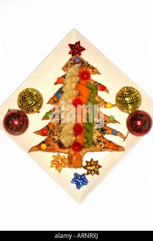 Tarte aux fruits de Noël Banque D'Images
