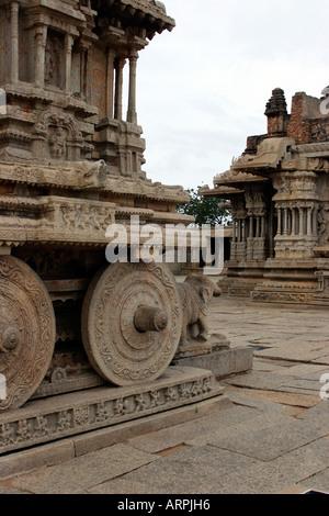 Hampi, Karnataka, en Inde centrale, d'Asie. Vitthala Temple Vittala ou. Banque D'Images