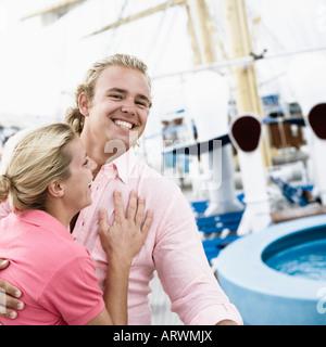 Jeune couple smiling Banque D'Images