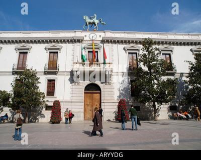 Hôtel de ville de Grenade Plaza del Carmen Andalousie, Espagne Banque D'Images