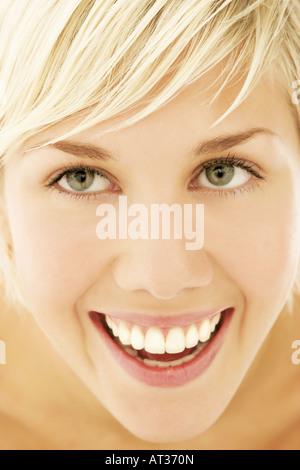 Une femme, close-up Banque D'Images