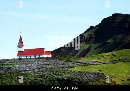 Dans le village de Vik, village le plus au sud de l'Islande avec une population d'environ 300. Banque D'Images