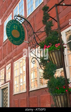 Restaurant dans la vieille maison Mønt Gammel Copenhagen Danemark dans l'ancien temps c'était un bordel réel