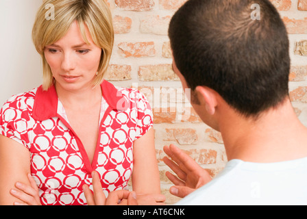 Jeune couple Arguing, close-up Banque D'Images