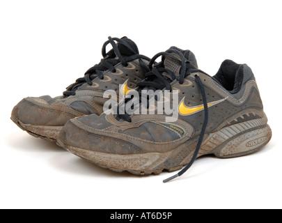 Chaussures de sport Nike chaussures de football coupe · Formateur Banque  D Images 3c1fe5a0e