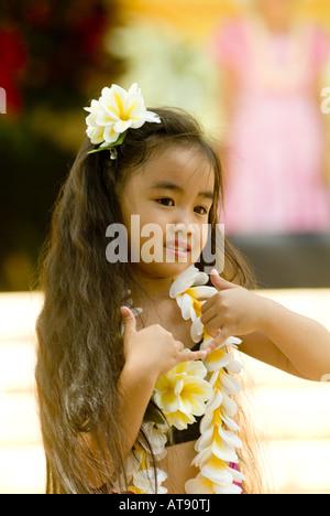Les spectacles de danse hula à Kapiolani Park kiosque pour le premier mai, également connu comme à Hawaii lei day