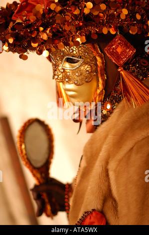 Masque de carnaval Venise costume et miroir décoratif Festival