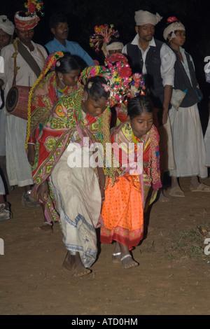 Le folklore et la danse indienne Banque D'Images