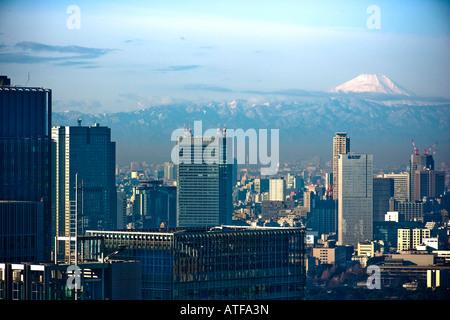 Le Mont Fuji vu l'ensemble de la gare centrale de Tokyo salon Banque D'Images