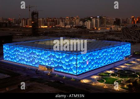Le Centre national de natation de Pékin pour les Jeux Olympiques de Beijing 2008. 29-Feb-2008 Banque D'Images