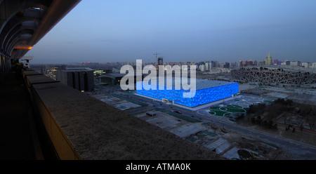 Centre national de natation et Stade national pour les Jeux Olympiques de Beijing 2008. 29-Feb-2008 Banque D'Images