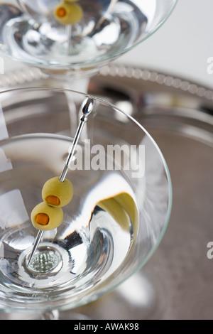 Libre de deux cocktails martini Banque D'Images