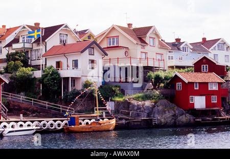 Klädesholmen dans Îles Tjörn sur la côte occidentale de la Suède Banque D'Images