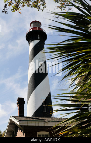 Le phare de saint Augustin à Saint Augustine, Florida, USA Banque D'Images