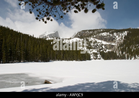Lac de l'ours, Rocky Mountain National Park Banque D'Images
