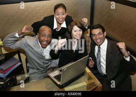 Portrait des entreprises partenaires encourager leur succès Banque D'Images