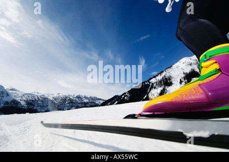 Femme ski de fond, low section Banque D'Images