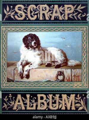 Victorian Scrap Album Scrap Book 1880 Banque D'Images