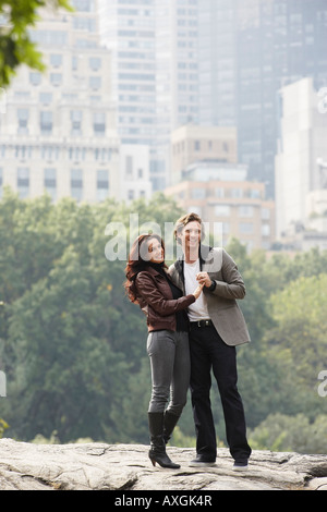 Couple Dancing in City Park, New York City, New York, USA