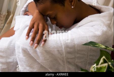 Gros plan du bas femme jamaïcaine 18 à 20 USA Banque D'Images
