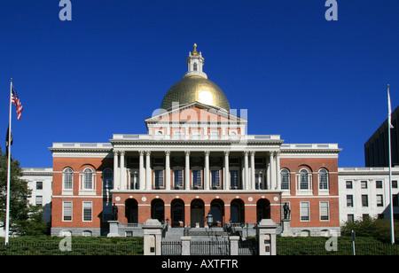 La Massachusetts State House, vue de Boston Common.
