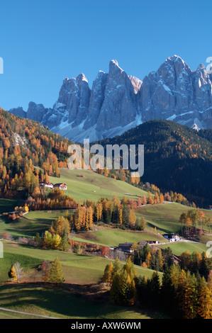 Santa Maddalena, Val di Funes, Dolomites, la province de Bolzano, Trentin-Haut-Adige, Italie, Europe Banque D'Images